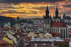 Stadt Pragua auf Tschechisch Lizenzfreie Stockbilder