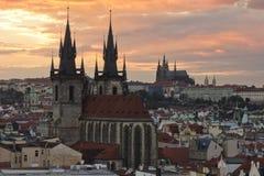 Stadt Pragua auf Tschechisch Lizenzfreie Stockfotografie