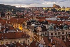 Stadt Pragua auf Tschechisch Stockfotografie