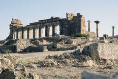 Stadt römischen Reiches Volubilis in Marokko, Afrika Lizenzfreie Stockfotografie