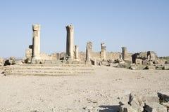 Stadt römischen Reiches Volubilis in Marokko, Afrika Stockbilder