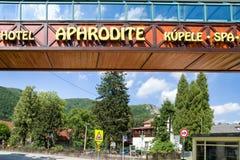 Stadt Rajecke Teplice, Slowakei Lizenzfreie Stockbilder