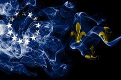 Stadt-Rauchflagge Louisvilles alte, Staat Kentucky, die Vereinigten Staaten von Amerika vektor abbildung