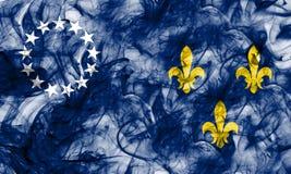 Stadt-Rauchflagge Louisvilles alte, Staat Kentucky, Vereinigte Staaten von lizenzfreie abbildung
