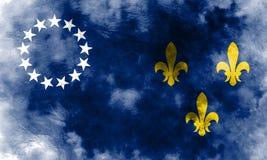 Stadt-Rauchflagge Louisvilles alte, Staat Kentucky, Vereinigte Staaten von stock abbildung