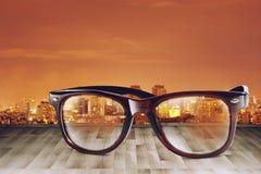 Stadt Refect auf Sunglass II Stockfotografie