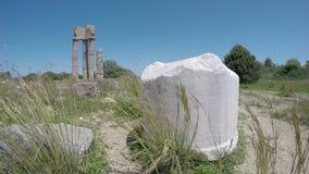 Stadt Rhodos ruiniert ältester historischer Apollo-Tempel Spalten in der Akropolise 4K stock video footage