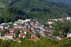 Stadt Roznov-Hülse Radhostem Stockfotografie