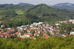 Stadt Roznov-Hülse Radhostem Lizenzfreie Stockbilder