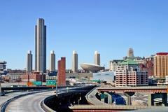 Stadt Scape Albaniens NY Stockfoto