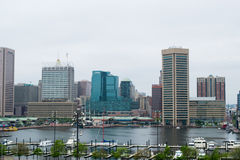 Stadt scape des Bundeshügels in Baltimore, Maryland während des Sommers stockfoto