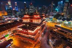 Stadt scape Himmel des chinesischen Gebäudes Stockfotografie
