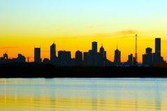 Stadt-Schattenbild Stockfotos