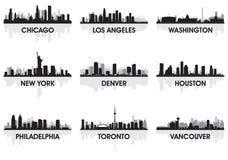 Stadt-Skyline stock abbildung