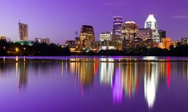 Stadt-Skyline - Austin, TX Lizenzfreies Stockfoto