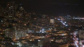 Stadt-Skyline-Bürogebäude nachts - San Francisco California 4K stock footage
