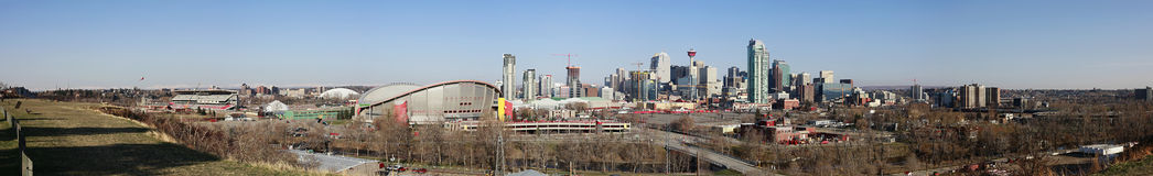Stadt-Skyline, Calgary, Alberta, Kanada Lizenzfreie Stockfotografie