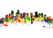 Stadt-Skyline Charlotte North Carolinas USA Stockfoto