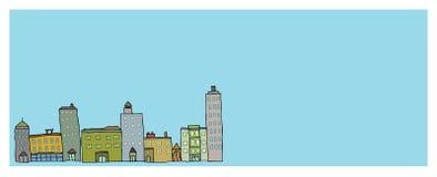 Stadt-Skyline-Fahne Lizenzfreies Stockfoto