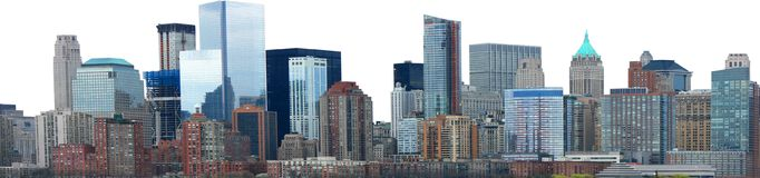 Stadt-Skyline-Fahnen-Panorama lokalisiert lizenzfreies stockbild