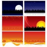 Stadt-Skyline-Hintergründe Stockfotos