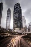 Stadt-Skyline in Hong Kong Lizenzfreies Stockbild