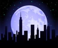 Stadt-Skyline nachts vektor abbildung