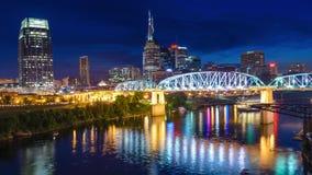 Stadt-Skyline Nashvilles, Tennessee, USA stock footage
