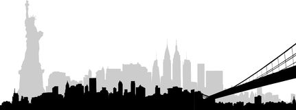 Stadt-Skyline New York   Lizenzfreies Stockfoto