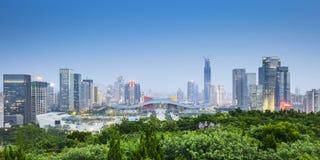 Stadt-Skyline Shenzhens, China lizenzfreies stockfoto