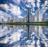 Stadt-Skyline Xiamens, China Stockfotos
