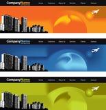 Stadt-Skylinefahnen Stockfoto