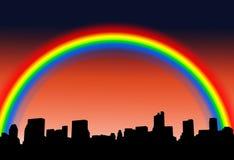 Stadt-Skylineschattenbild Lizenzfreie Stockfotos