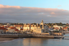 Stadt am Sonnenuntergang Lizenzfreies Stockfoto
