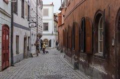 Stadt am sonnigen Tag, Cesky Krumlov, Tschechische Republik lizenzfreies stockbild
