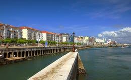 Stadt Spanien-, Santander Stockbild