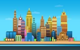 Stadt-Spiel-Hintergründe, 2d Spielanwendung lizenzfreie stockbilder