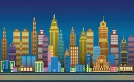 Stadt-Spiel-Hintergründe, 2d Spielanwendung Stockbild