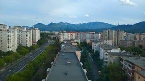 Stadt - städtische Zone - Berggebiet stockbilder