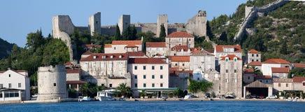 Stadt Ston nahe Dubrovnik stockfotografie