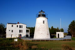 Stadt Str.-Marys, MD: Piney Punkt-Leuchtturm Stockfotografie