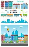 Stadt-Straßen-Satz Stockbild