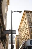 Stadt-Straßenlaterne Stockfoto