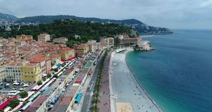 Stadt-Strand-Ansicht stock video