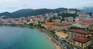 Stadt-Strand-Ansicht stock footage