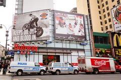 Stadt streetlife auf 7. Allee in New York Lizenzfreies Stockbild