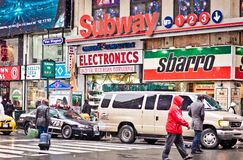 Stadt streetlife in New York Lizenzfreies Stockfoto