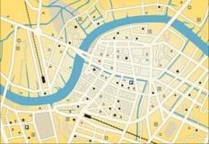 Stadt streetmap lizenzfreie abbildung