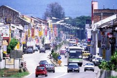 Stadt Sungai Siput lizenzfreie stockbilder