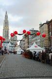 Stadt-Tag Antwerpen Stockbild